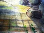 """"""" Средняя Азия. Внутренний дворик дворца """""""