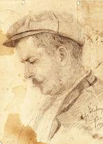 """""""  Портрет мужчины в кепке """""""