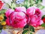 """"""" Цветы в вазе """" (Эскиз стенной росписи?)"""