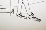 """Литография с персонажами к балету """" Щелкунчик """""""