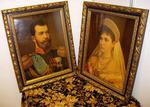 Портреты царской четы - Николая II и Александры Федоровны.