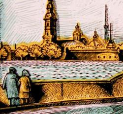 """""""Вид с Дворцовой набережной на Петропавловскую крепость """""""