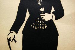 """Линогравюра """" Чаплин """""""