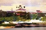 """ Городская панорама. Вид с реки """