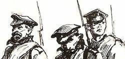 """""""Трое военных"""" (Иллюстрация?)"""