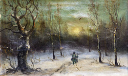 """""""Зимний пейзаж с одинокой фигурой"""""""