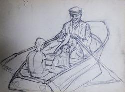 """""""Трое в лодке"""" Эскиз"""