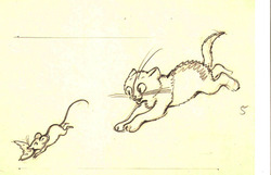 """""""Мышка и котёнок"""" 8 рисунков"""