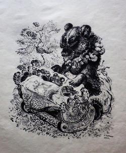 """Медведица и три медвежонка"""
