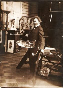 И.Е. Репин в мастерской. Пенаты.