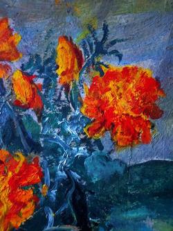 """""""Цветы в вазе"""" (Календула)"""
