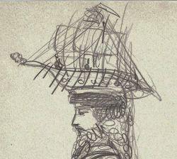 """""""Девушка в шляпке с корабликом"""""""