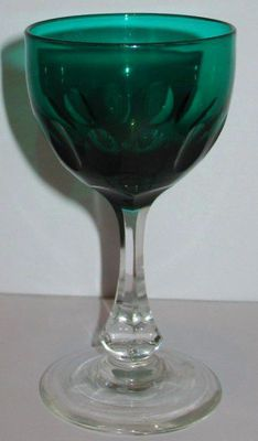 Рюмка для вина зелёного стекда
