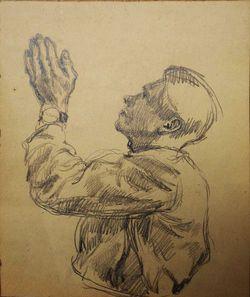 """12 этюдов к картине """"Встреча гвардейцев на Дворцовой площади"""""""