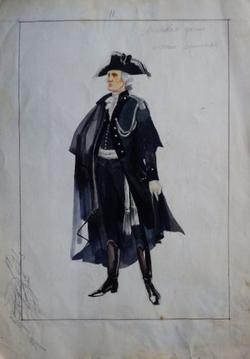 Эскиз костюма Германа