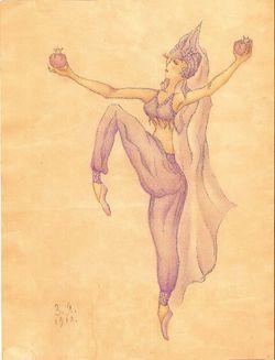 """Танцовщица с плодами"""