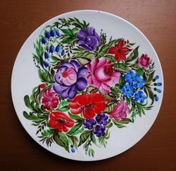 """Блюдо настенное """"Цветы"""""""