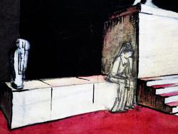 """Эскиз декорации к опере """"Дон Жуан"""", 3-я картина."""