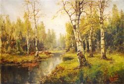 """""""Осенний пейзаж с коровами"""""""
