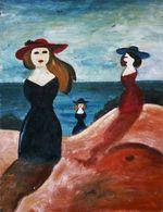 Три дамы на берегу