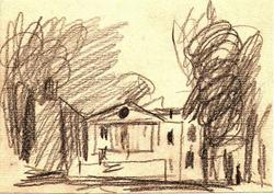 """Коллекция leningradart.com, выставка """"Любимый город"""" Рисунок, акварель.1930-1990 годы."""