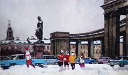 """Коллекция leningradart.com, выставка """"Любимый город"""" Рисунок, акварель.1930-1990 г.г."""