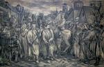 """Коллекция leningradart.com, выставка ПАВЛОВСКИЙ Г.В. """"Политических ведут"""" Рабочий материал. 1937 г."""