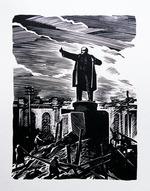 """Коллекция leningradart.com. Выставка УШИН А.А. """"Ленинград в блокаде """"."""