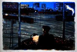 """Коллекция leningradart.com, выставка  МАСЛЕННИКОВА И.Н. """"Ленинград - железнодорожный"""""""
