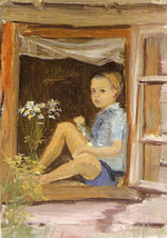 """Коллекция leningradart.com, выставка """"Тема детства и юности в творчестве ленинградских художников"""""""