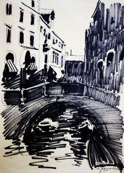 """Коллекция leningradart.com, выставка Труфанов М.П. графический цикл """"Венеция"""""""