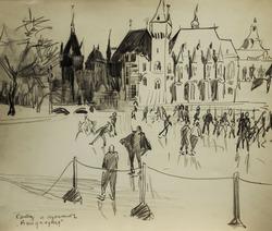 """Коллекция leningradart.com, выставка Труфанов М.П. графический цикл """"Из путешествия по Венгрии"""""""