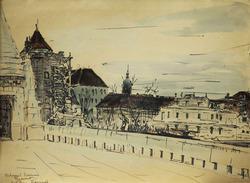 Настоящая работа экспонировались на персональной выставке М.П.  Труфанова в залах Научно-исследовательского музея Академии художеств в Ленинграде  в 1986 году.