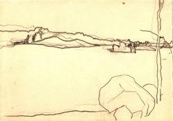 """Коллекция leningradart.com, выставка ЗАКЛИКОВСКАЯ С.Л. """"Берёзово"""" Рисунок.1960-е-1970-е г.г."""