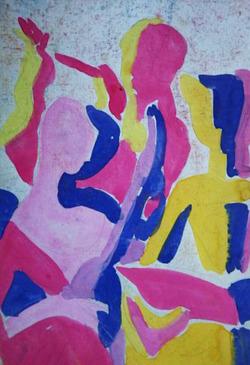 Коллекция leningradart.com, ОБОЛЕНСКАЯ Т.Б. Тема искусства в творчестве. Графика. 1950-1980 г.г.
