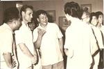 В.Н. Зачиняев среди преподавателей и студентов киношколы. Ханой. Вьетнам. 1963 г.