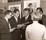 В.Н. Зачиняев на открытии персональной выставки в Москве в Доме дружбы после возвращения из Вьетнама. Октябрь 1963 г.