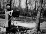 А.Х. Белявский на этюдах. 1950-е годы.