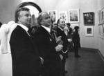 На открытии выставки ко Дню Победы.Слева направо:Д.П. Бучкин, Б.М. Лавренко, А.Г. Гуляев.1986 г.
