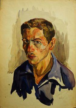 Автопортрет Цибульника В.А. из архива leningradart.com.
