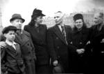 Х.М.Б. Белявский с сыном Альбертом среди сослуживцев на демонстрации. 1940-е годы.