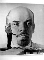Х.М.Б. Белявский за работой над портретом В.И. Ленина. Ленизо. 1950-е годы.